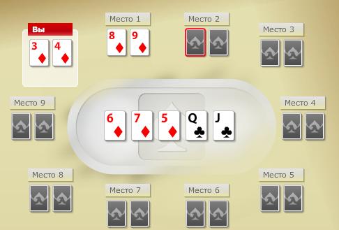 Стрит Флеш в покере фото 1