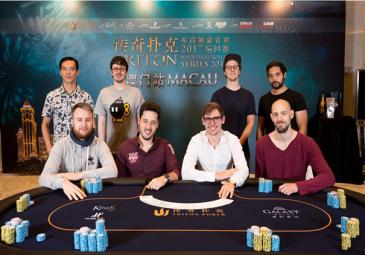2017 Triton Super High Roller Series Macau HK$1m Main Event Final Table