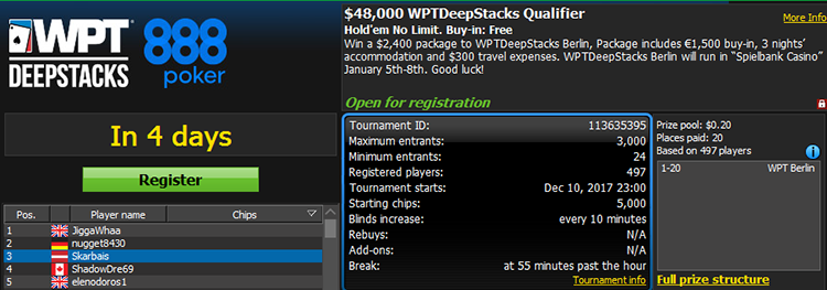 $48,000 WPTDeepstacks MVP Qualifier