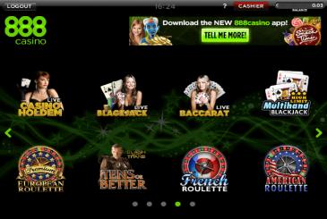 Casino in poker room