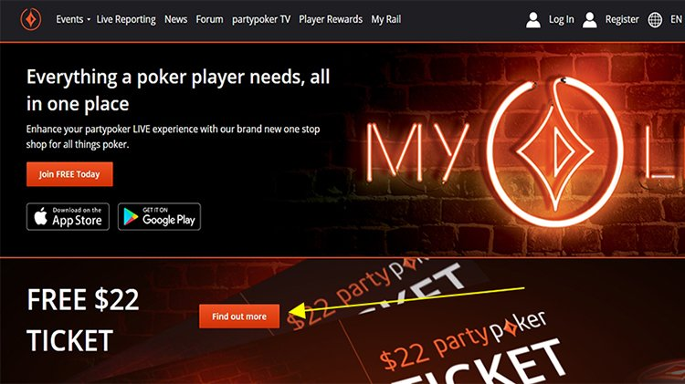 Find out more My partypoker LIVE