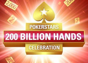 Игроки PokerStars разделят $1,000,000 в рамках празднования 200-миллиардной руки