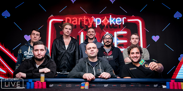 ME partypoker LIVE MILLIONS Germany final table