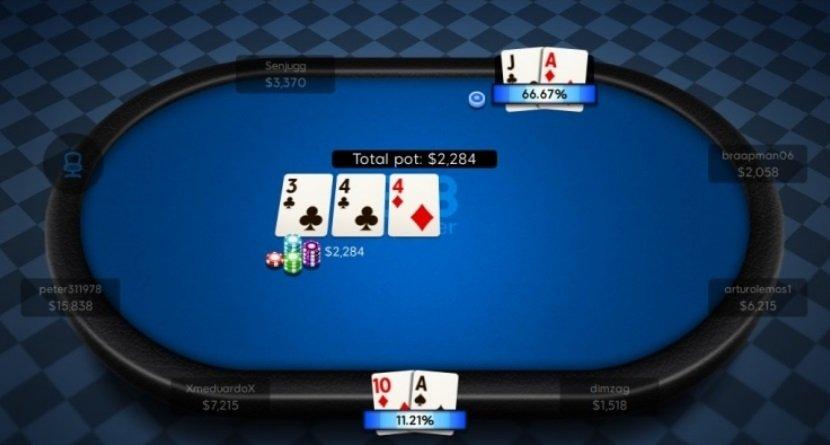 Отображение вероятности выигрыша Poker 8