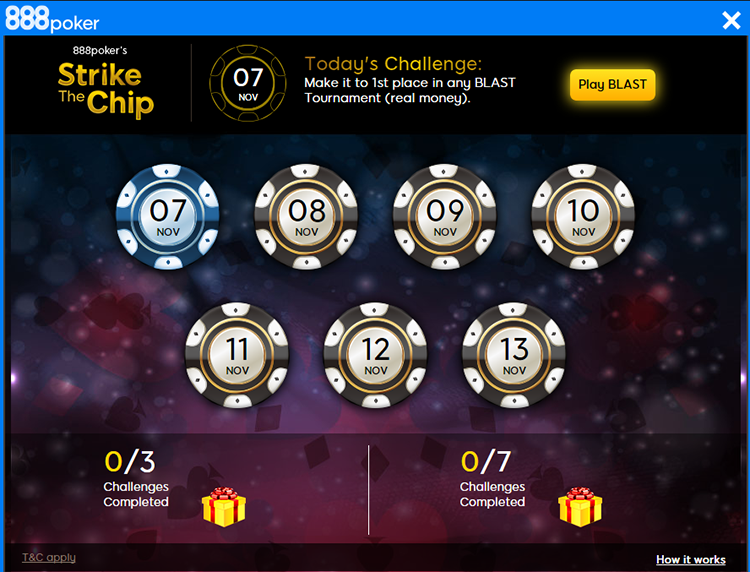 Strike a Chip 888poker menu