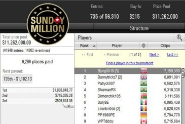 Sunday Million Anniversary Edition Take 2 - day 1