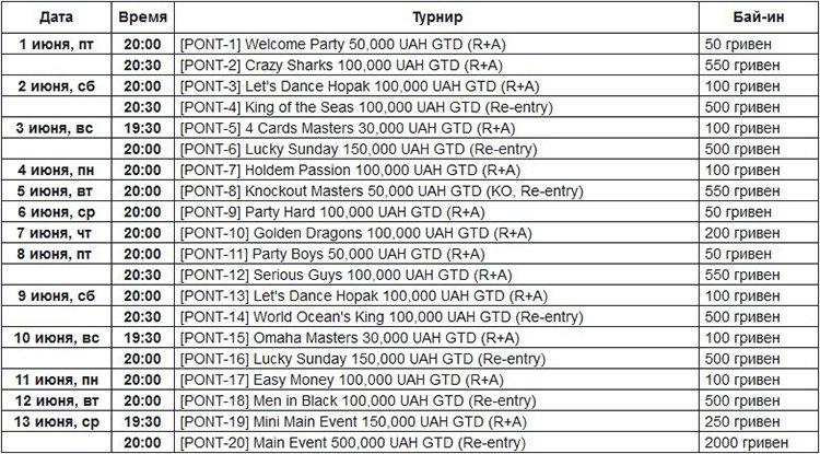 TURBO-PONT-schedule