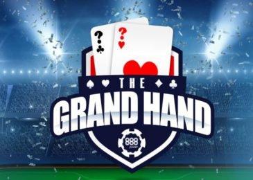 Получи приз до $1,000 ежедневно в 888poker по акции «Grand Hand»