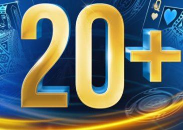 «Таблицы лидеров 20+» – новая акция PokerStars с ежедневным розыгрышем $28,000
