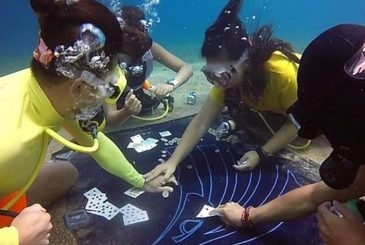 Underwater Poker Game