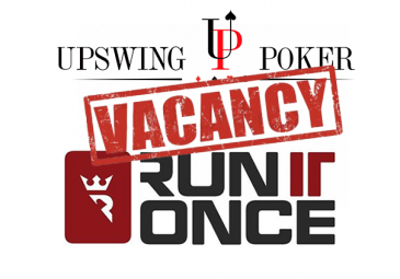 Upswing Poker and RunItOnce vacancy