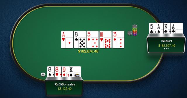 Viktor Isildur1 Blom vs RaulGonzales - $200-$400 PLO