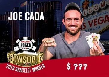 Сколько выиграл Джо Када на WSOP 2018