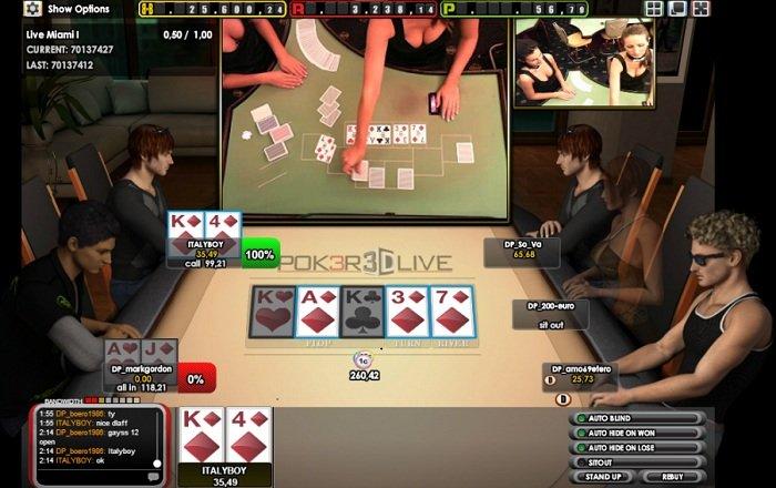 Трансляция раздачи карт крупье в покерном приложении со ставками на деньги