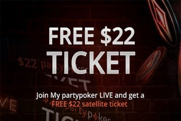 free tickets $22 PartyPoker