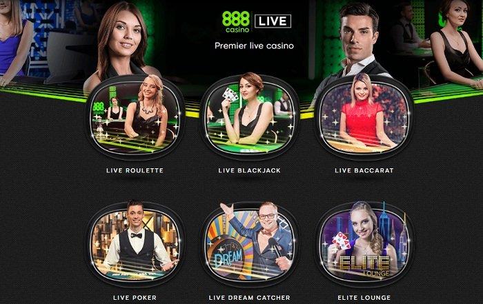 Ассортимент Live столов 888Casino