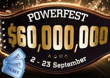 Partypoker дарит игрокам билеты на серию турниров Powerfest