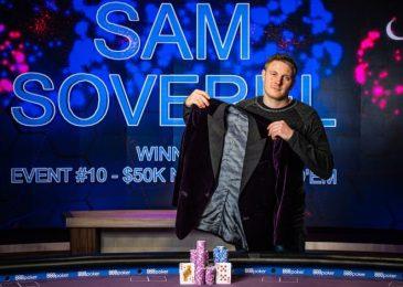 Сэм Соверел выиграл в финальном турнире Poker Masters и стал обладателем фиолетового пиджака