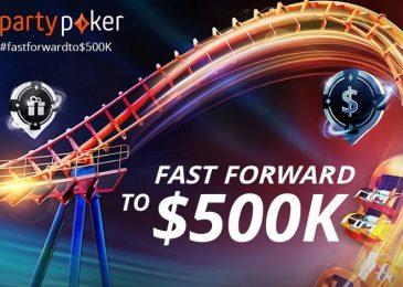 Акция Fast Forward на partypoker разыграет $500,000 в сентябре