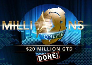 Millions Online превысил гарантию до $21,090,000