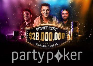 Partypoker анонсировал Powerfest с гарантией $28,000,000