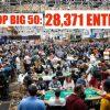 WSOP The Big 50 установил мировой рекорд посещаемости – 28,371 вход